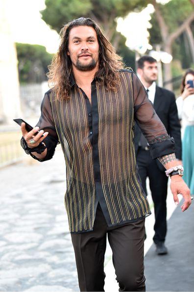 Jason Momoa in Rome in July 2019