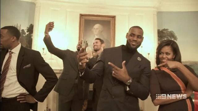 Cleveland Cavaliers welcomed at White House