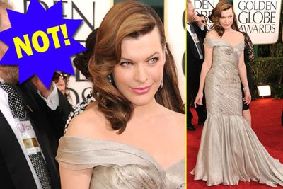 When a dress makes a goddess like Milla look dowdy - it's not a good one.