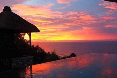 Tim and Anna are staying at the Karma Kandara resort, which charges $1374 a night for a one-bedroom pool villa.<br/><br/>Blake and Louise are shacked up at AYANA in Jimbaran Bay, where the villa rates start from $650.<br/><br/>Both couples are tagging @thebalibible, so we'd assume they're getting something for free here.<br/><br/>Image: Tim and Anna's villa view.