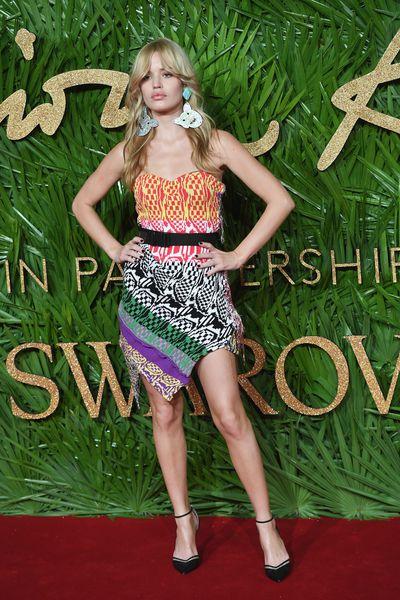 Georgia May Jagger at the Fashion Awards, London.