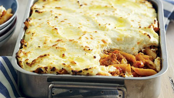 Baked bolgnese pasta