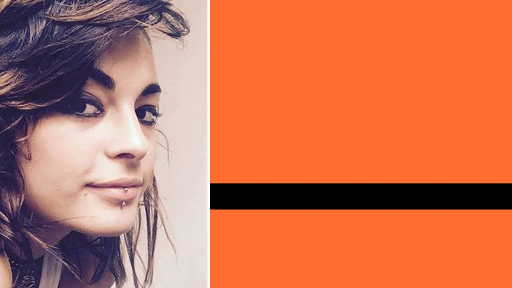 Amsterdam-based artist Yara Said and her flag design. (Facebook/Yara Said/The Refugee Nation project)