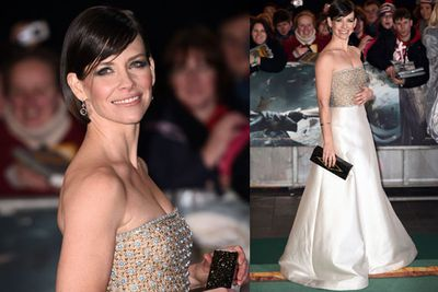 Evangeline Lilly, who plays Tauriel in the film, stuns in a floor-length gown.