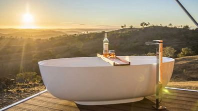 Outdoor tubs will take your breathe away