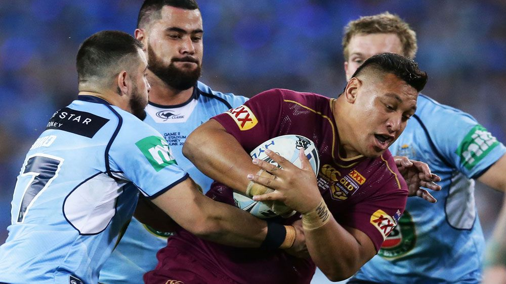 Maroons' star Josh Papalii to take up boxing, Gallen in his sights