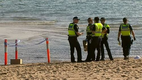 Police have fenced off the area where the body parts were found. (9NEWS)