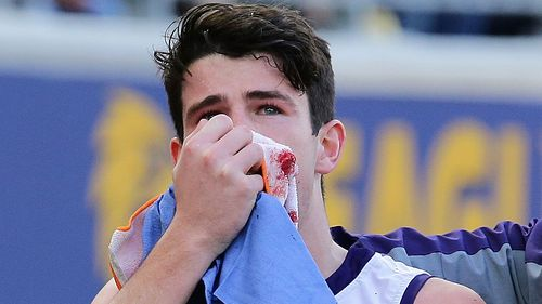 Andrew Brayshaw will take months to recover from his injuries. Picture: 9NEWS