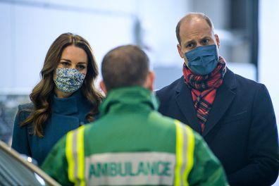 The Duke and Duchess visit the Scottish Ambulance Service at Newbridge near Edinburgh.