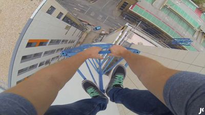 <p>Dizzying heights and near-impossible leaps of faith – these are the people who risk their lives so that you don't have to.</p> <p> Take James Kingston, an adrenaline junkie with a penchant for heights, providing you with a bird's eye view of some of the UK's leading universities.</p> <p> His newest video, filmed on a GoPro camera he was wearing, follows Kingston as he expertly scales Southampton University's Mayflower Halls tower, placing viewers on a thin piece of construction lattice at the peak of the 12-storey building.</p> <p> The no-hands stunt comes just months after Kingston got on the wrong side of Cambridge University after bounding across its rooftops, and is sure to go down in the freerunning history books.</p> <p> But like anything in life, if you jump into the deep too soon, you might slip up – something the following parkour practitioners know all the well.</p> <p> Click through to watch our best of freerunner fails and victories gallery.</p>