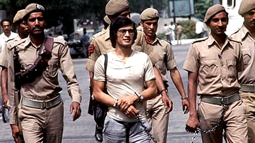 Charles Sobhraj was arrested in New Dehli in 1976 after drugging dozens of students in a hotel lobby.