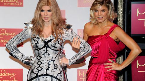 Which one's real? Fergie looks more waxy than her wax figure