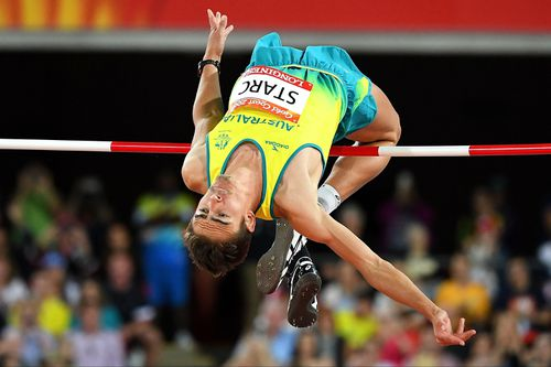 Starc during competition. (AAP)