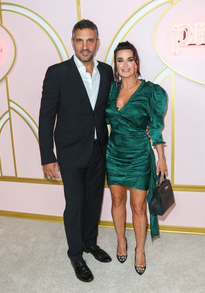 Reality TV star Kyle Richards and husband Mauricio Umansky at the Amazon Prime   party at Cecconi's, September, 2018