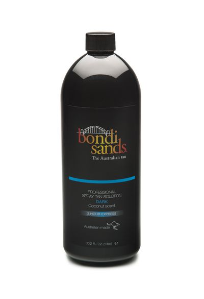 "<a href=""http://www.bondisands.com.au/professional"" target=""_blank"">Bondi Sands Professional Solution - Dark (500ml), $39.95.</a>"