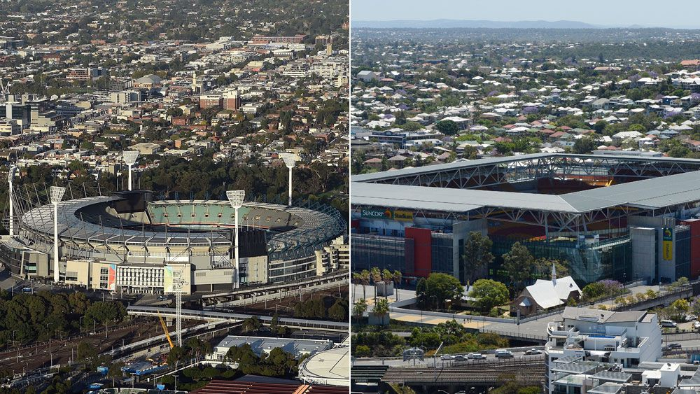 The MCG and Suncorp Stadium are being thrown up as NRL grand final venues. (AFP and AAP)