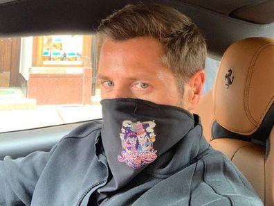 Lawrence Santi wearing face mask Instagram