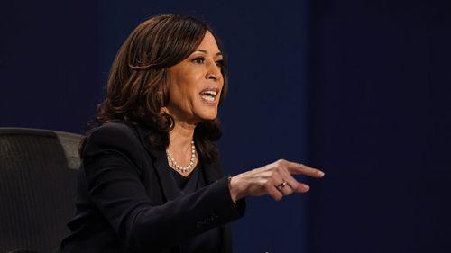 Senator Kamala Harris during the Vice Presidential debate.