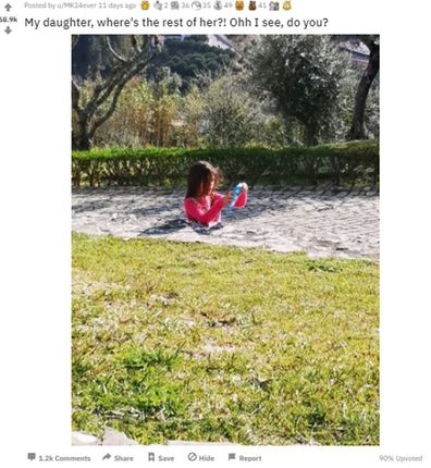 Daughter photo sinking in concrete Reddit post