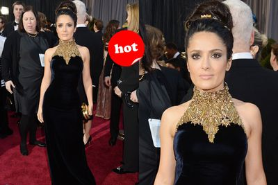 Salma's quite the reliable red-carpet sexpot, isn't she?