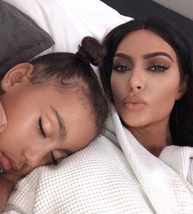 Kim Kardashian, North West, Instagram photo