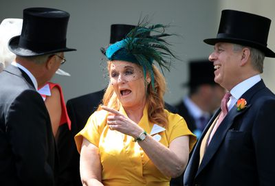 Fergie and Andrew chat with racegoers