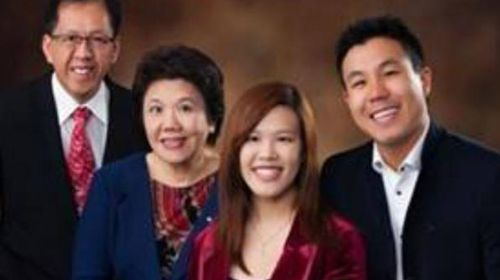 Curtis Cheng (far left) with wife Selina, son Alpha and Zilvia. (Supplied)