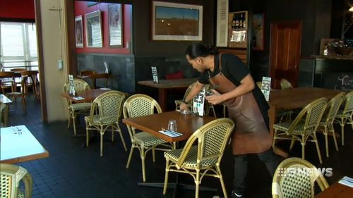The pair have targeted a host of restaurants, cafes and other businessed. (9NEWS)