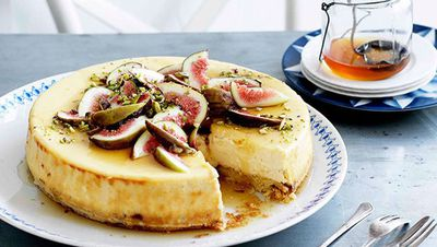 "<a href=""http://kitchen.nine.com.au/2016/05/16/17/59/goats-cheese-cake-with-figs-and-honey"" target=""_top"">Goat's cheese cake with figs and honey</a>"