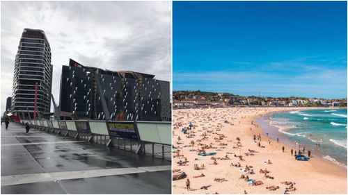 It's set to be a tale of two very different cities today, with Melbourne set to storm and Sydney expected to swelter.