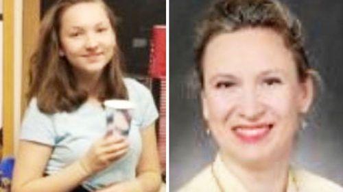 Svetlana Laurel, 52, and her 14-year-old daughter Natalie.