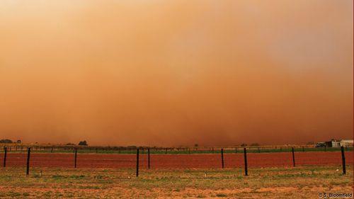 The dust storm in Mildura. (Supplied, Steven Bloomfield)