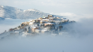 Winters can be harsh in Campodimele, Italy.