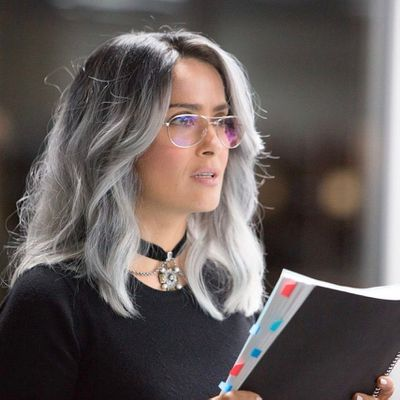 "Leave it to Salma Hayek to prove that salt-and-pepper hair is the new black.<br /> <br /> The <em>Frida</em> actress has swapped signature long, dark locks for a sleek, silver head of hair, which she debuted via <a href=""https://www.instagram.com/salmahayek/"" target=""_blank"">Instagram.</a><br /> <br /> ""Meet Eva Torres, my new character in the film I just finished, The Hummingbird Project,"" she captioned the post.<br /> <br /> Hayek's new hair hue is most likely a wig, considering that she has stepped out multiple times this year with different types of hairpiece.  But <a href=""https://style.nine.com.au/2017/08/17/12/48/style_salma-hayek-washing-face-twice-a-day"" target=""_blank"">embracing natural grey hair</a> isn't something the Academy Award-nominee is afraid of.<br /> <br /> ""I don't dye my hair is because I don't have the patience to sit through it,"" Hayek told <em><a href=""https://www.nytimes.com/2017/08/14/fashion/salma-hayek-beauty-regimen.html"" target=""_blank"">The New York Times </a></em>in August.<br /> <br /> ""I don't want to spend what's left of my youth pretending I'm younger and then not enjoying life.""<br /> <br /> The 50-year-old has been at the forefront of the news cycle this week, having penned a candid and passionate essay for <em><a href=""https://www.nytimes.com/interactive/2017/12/13/opinion/contributors/salma-hayek-harvey-weinstein.html"" target=""_blank"">The New York Times</a></em>, where she revealed she had been the <a href=""https://thefix.nine.com.au/2017/12/14/09/56/salma-hayek-harassment-harvey-weinstein-frida"" target=""_blank"">victim of disgraced Hollywood producer Harvey Weinstein's abuse.</a><br /> <br /> ""I hope that adding my voice to the chorus of those who are finally speaking out will shed light on why it is so difficult, and why so many of us have waited so long.""<br /> <br /> Click through to see more A-list hair transformations.<br />"