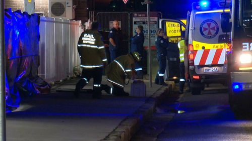 A man has died after he becoming caught between a train and the platform at a Sydney station.