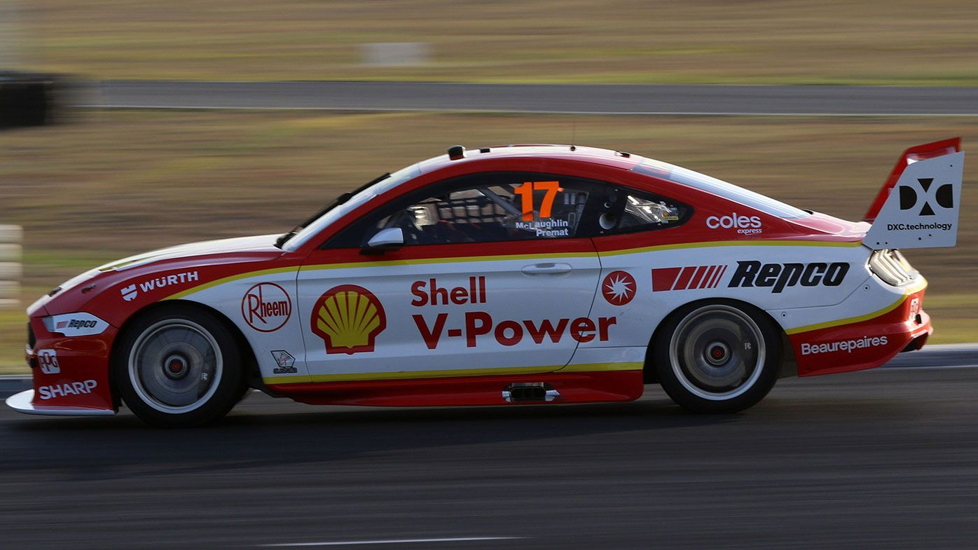 Scott McLaughlin tests his rebuilt DJR Team Penske Mustang.