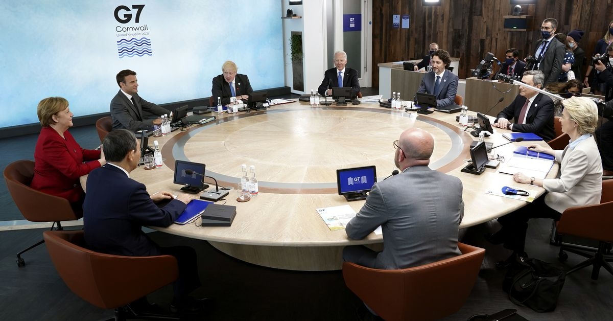 Biden urges G7 leaders to call out, compete with China