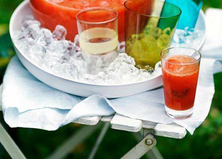Watermelon, orange and rhubarb punch