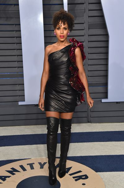 Actress Kerry Washington in Alexandre Vauthier Spring 2018