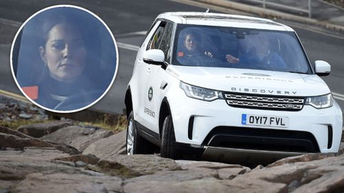 Kate and William both briefly ground to a halt at the same notoriously difficult spot halfway up a rock crawl. (AAP)