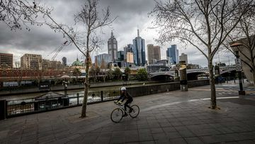 Southgate in Melbourne on the first day of lockdown.