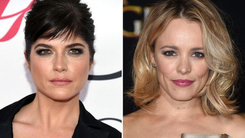 """Actress Selma Blair at the CFDA Fashion Awards in New York on June 6, 2016, left, and actress Rachel McAdams at the Los Angeles premiere of """"Doctor Strange"""" on October 20, 2016. (AAP)"""