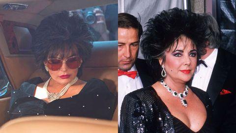 Fab or drab? Lindsay Lohan as '80s Liz Taylor