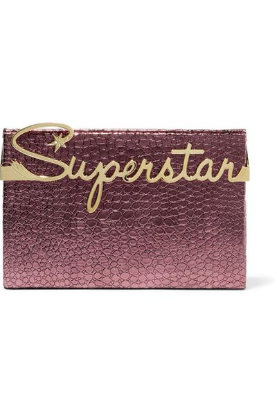 "Charlotte Olympia, Superstar croc-effect leather clutch, $1,602 at <a href=""https://www.net-a-porter.com/au/en/product/753771/charlotte_olympia/superstar-vanity-croc-effect-leather-clutch"" target=""_blank"">Netaporter.com</a><br>"