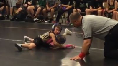 Little Brother Saves Sister From Wrestling Tournament Rival