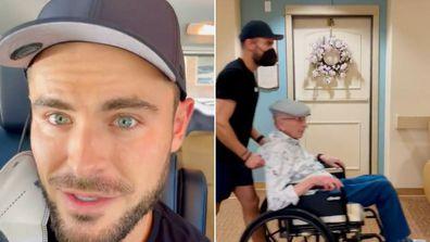 Zac Efron breaks grandpa out of retirement home.