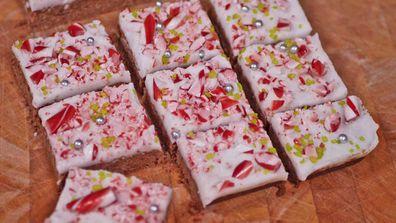 9Honey Kitchen's Christmas after dinner candy cane mint slice hack