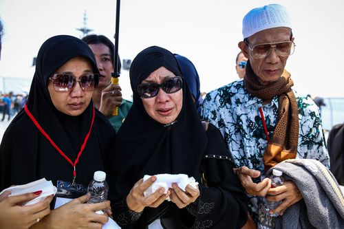 The fateful flight crashed into the ocean 13 minutes after taking off from Jakarta Airport bound for the island of Bangka.