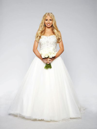 <em>Married at First Sight</em>'s Ashley in her dream wedding dress