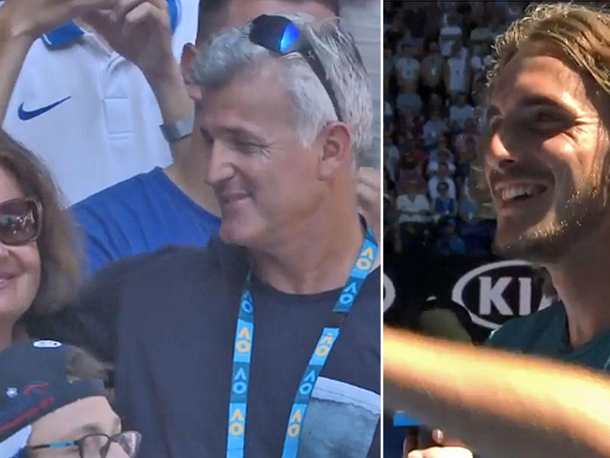 Australian Open Tennis 2019 Stefanos Tsitsipas Family Moment After Defeating Robert Bautista Agut To Make Semi Final Post Match Interview